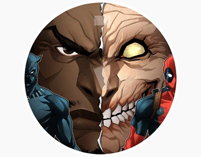 Black Panther Vs. Deadpool (Variant Cover #3B)