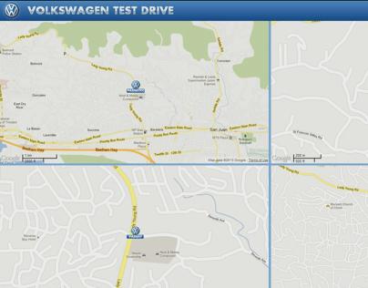 Volkswagen GPS Tracking Display