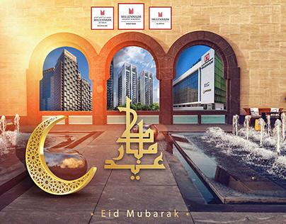 Eid Greetings ( Millennium Hotel )