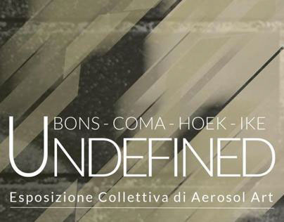 Undefined - Brochure for my collective art expo in Rome