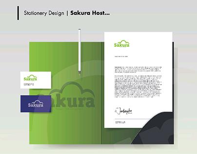 Sakura Host - Visual Identity Design