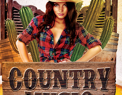 Western Country Music Flyer Template