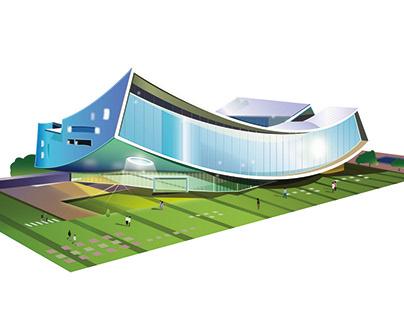 Illustration of Korean Architecture