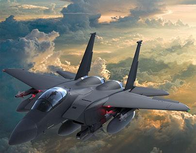 McDonnell Douglas F-15E Strike Eagle MODEL / LOOKDEV