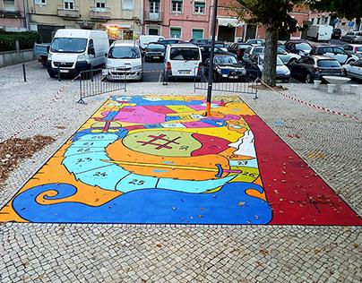 Mural Let's Play?, Lisbon