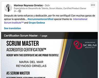 Scrum Institute - Certified Scrum Master