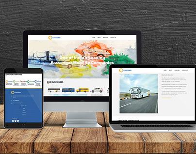 Chartered Speed - Website Design for Transport Company
