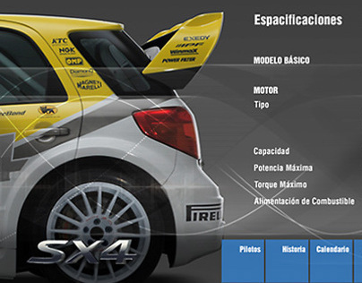Suzuki WRC mini site