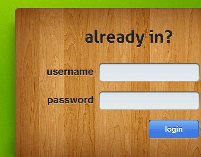Random login form