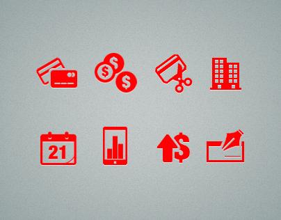 Random finace icons
