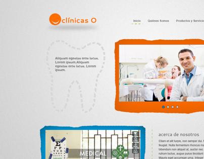 Website for ClínicasO Dental Services