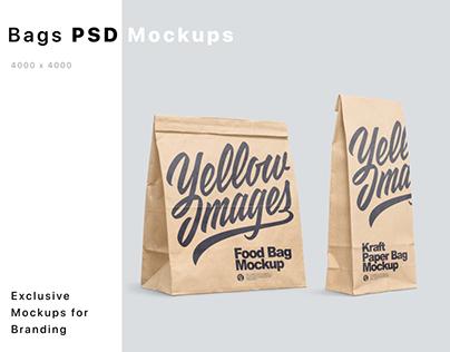 Kraft Paper Food Bags Mockups
