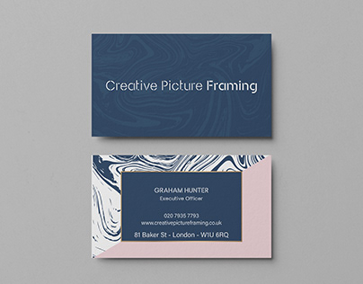 Creative Picture Framing Business Card
