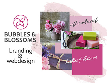 Bubbles&Blossoms Handmade Soap - branding and webdesign