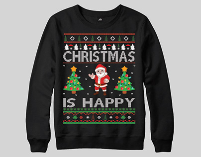 Christmas Is Happy Ugly Christmas Jumper