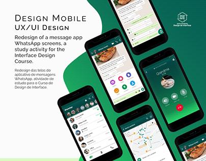 WhatsApp Redesign - UX/UI Design