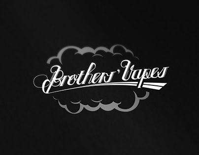 Brother's Vapes - Custom Typography Logo