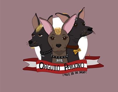 Perro Peruano, 28 de Julio | Illustration Digital