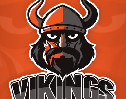 Vikings Basketball Logo