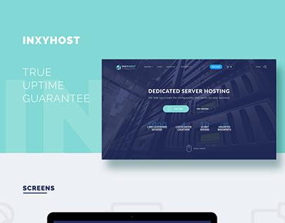 Landing Page InxyHost, Dedicated Server Hosting