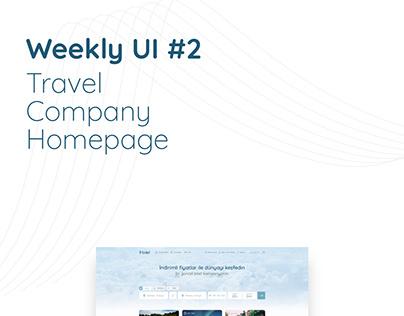 Weekly UI #2 - Travel Company Homepage Design