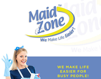 Maid Zone - Logo, Flyers, Website