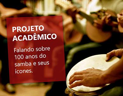 PROJETO DE DESIGN EDITORIAL 100 ANOS DE SAMBA