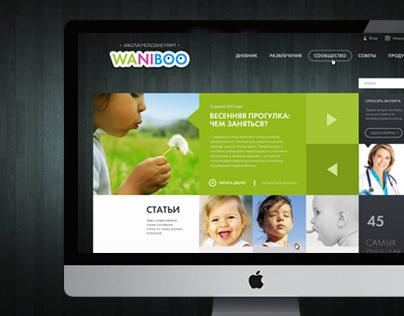 Waniboo - Baby school Website