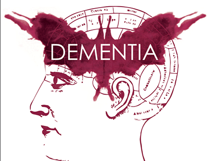 DEMENTIA RED WINE LABEL