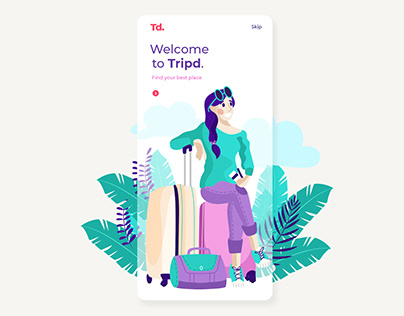 Welcome Screen Design for Traveling App