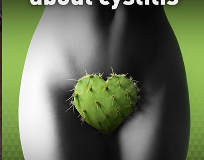 Cystoplus - for cysitits, animated bathroom ad