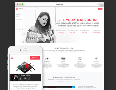 Online beat store for music producers
