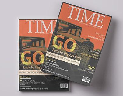 Magazine Cover Design-Vintage Style