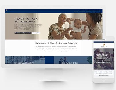 Guardian Life Insurance - Landing Page