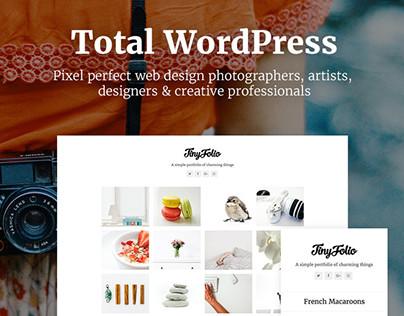 TinyFolio Personal Photography Online Portfolio
