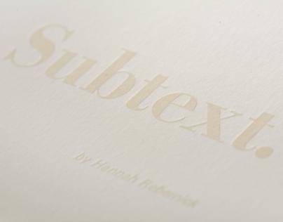 Subtext Letterpress