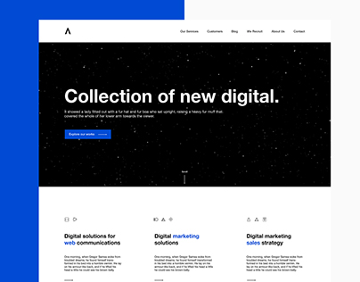 V ─ Digital Marketing Agency - Concept