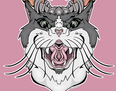 Cat Decal Design