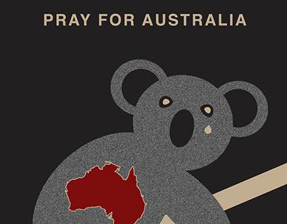 Pray For Australia Poster