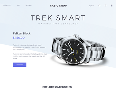 Watches Website Design