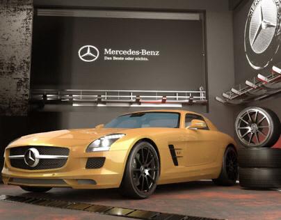 Mercedes-Benz SLS Coupé 6.3 AMG🧡🧡3D Max- Corona 4.0