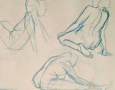 Quick Gesture Figure Sketches