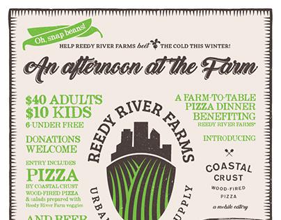 Reedy River Farms Coastal Crust Pizza Event Poster