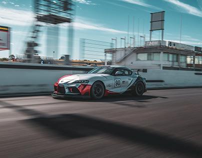 Toyota Supra racetrack