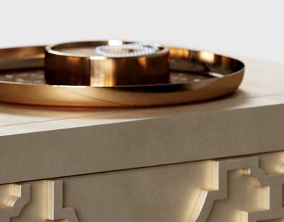 bernhardt & uttermost set / 3d modeling