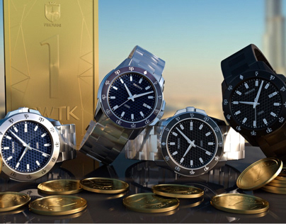 Pirovani Watches - Cryptocurrency watches - 3D project