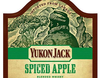 Yukon Jack Whiskey Labels Illustrated by Steven Noble