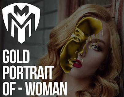 Gold Portrait of - Woman