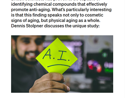 Artificial Intelligence meets anti-aging
