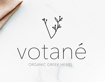 Branding and packaging design for Votané organic herbs